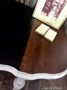 parlor table, antique wood grain, damaged wood, how to repair, stain, nyc