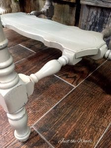 distressed paint, chalk paint, shabby chic, antique, painted table, just the woods