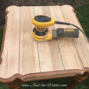 sanded, painted furniture, manhattan, nyc, staten island, ethan allen, just the woods