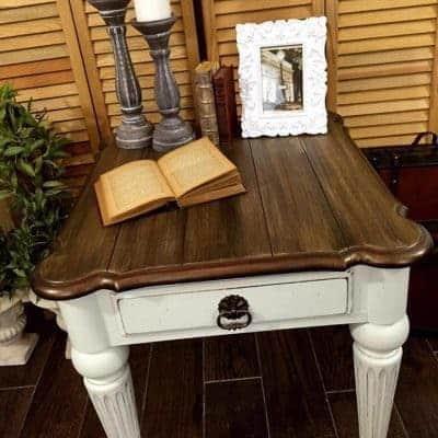Glam Farmhouse Style Table