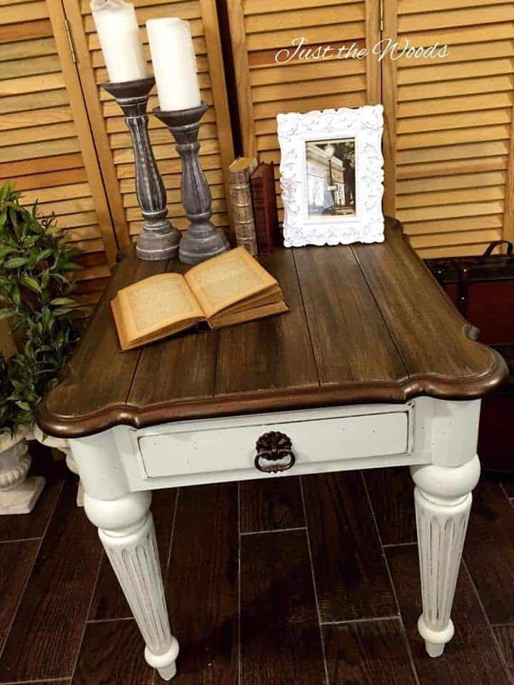 Glam farmhouse style table makeover by just the woods - What is farmhouse style ...