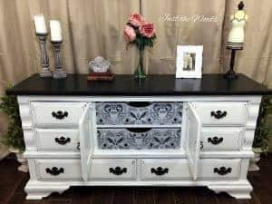 decoupage, shabby chic dresser, painted dresser, vintage furniture, staten island