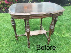 Antique, Parlor Table, vintage furniture, save wood grain, antique table, staten island