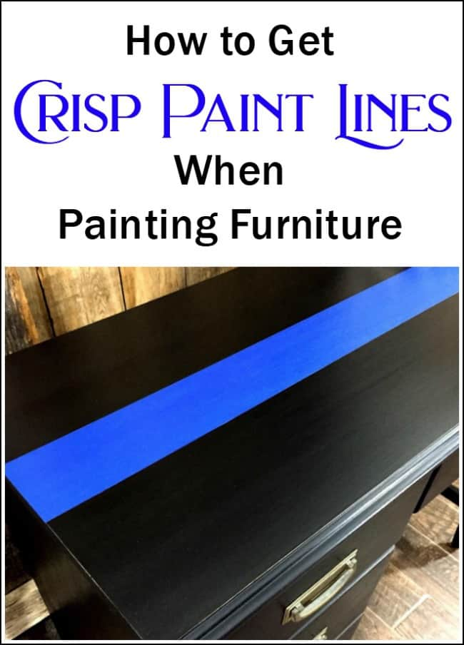 The Secret to Get Crisp Paint Lines When Painting Furniture