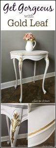 gold-leaf-foil, accent table, painted table, gold leaf, new york, pure and original