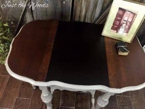 save wood grain, damaged wood, how to, repair, antique table, staten island, chalk paint