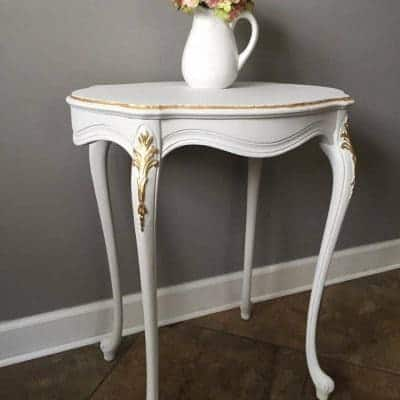 White & Gold, Classy & Bold Accent Table
