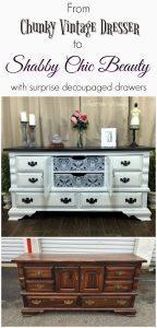 shabby-chic-dresser, decoupage, vintage dresser, painted dresser, shabby chic