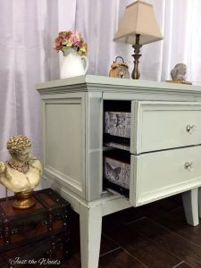 decoupage drawers, decoupage print, shabby chic, painted, chalk paint