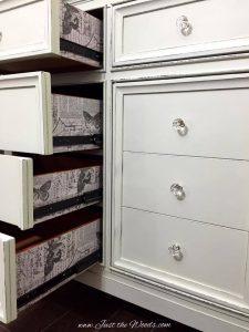 modern dresser, painted dresser, shabby chic, distressed dresser, decoupage, staten island