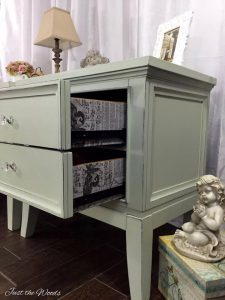 decoupage, butterfly tissue, shabby chic, painted furniture, just the woods