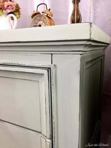 shabby chic, painted tables, distressed edges