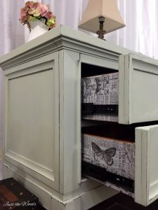 From Modern to Vintage Shabby Chic with Decoupaged Drawers by Just the Woods