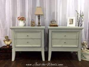 painted nightstands, shabby chic, decoupage, chalk paint, nyc, nj
