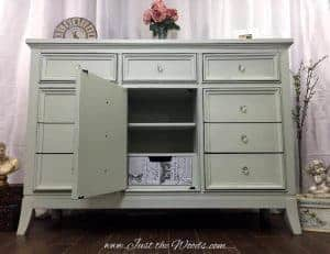 decoupage, shabby chic, painted dresser