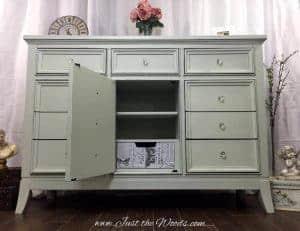 decoupage, shabby chic, painted dresser
