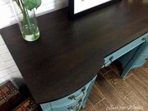 Duncan Phyfe, Painted Desk, chalk paint, wood stain, staten island, painted furniture