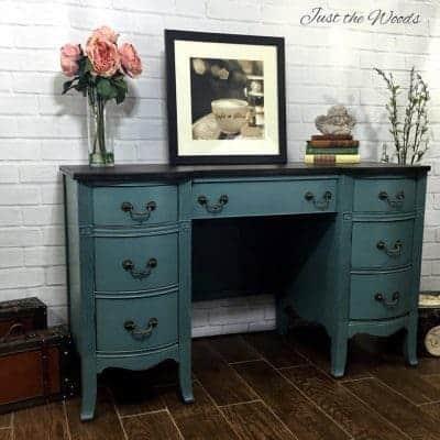 Desk Rescue Painted Jazzy Memphis Blue