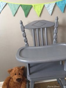 hand painted high chair, vintage, high chair, chalk paint