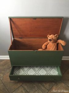 Transform an Antique Storage Chest To Custom Toy Box