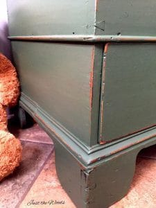hand made toy box, chalk paint, dusk, pure home paint