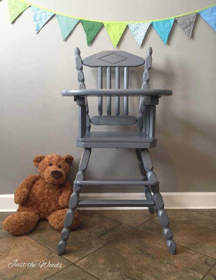 Baby Safe Hand Painted High Chair By Just The Woods