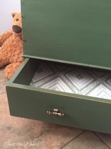 decoupage, how to paint an old trunk, toy box trunk