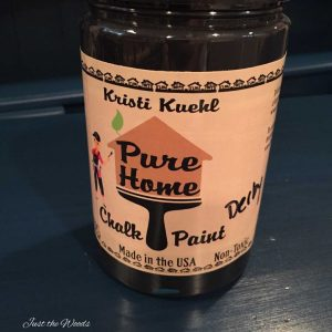 black chalk paint, kristi kuehl, pure home paint, chalk paint