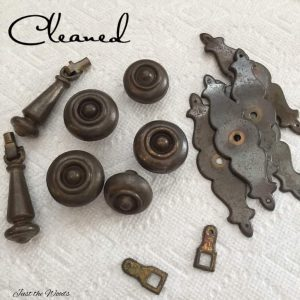 clean hardware for paint, prep hardware, vintage hardware