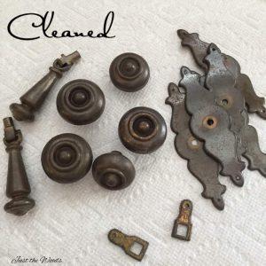 clean hardware for paint, prep hardware, vintage hardware
