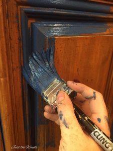 navy blue, chalk paint, sailor, non toxic, kristi kuehl, pure home paint