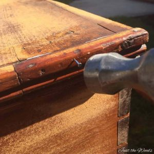 repair antiques furniture, toy box, storage chest