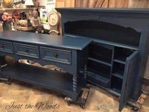 painted furniture, vintage furniture, large sideboard