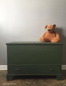 storage, toy box, vintage furniture, painted furniture, staten island, chalk paint