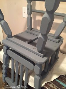 Painted High Chair, Chalk Paint, Vintage High Chair, Voc Free Paint, Non