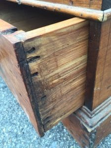 Antique Storage Chest , hammered nails, hand made, toy box