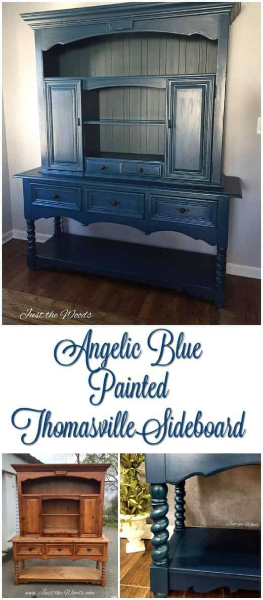 thomasville, sideboard, painted furniture, just the woods