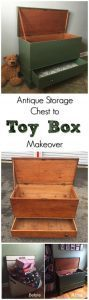 Antique Storage Chest to Toy Box