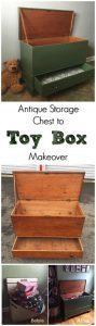 Antique Storage Chest to Toy Box