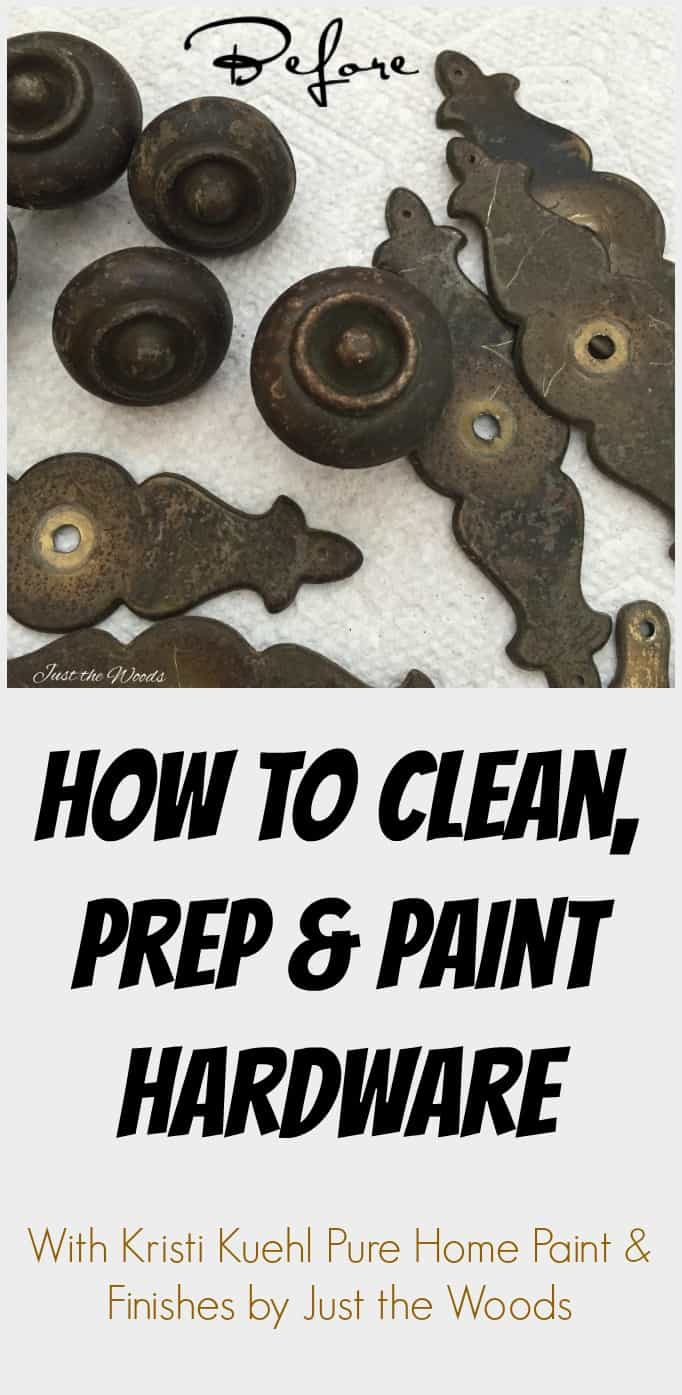 How to clean, prep and paint hardware. | how to paint hardware | vintage hardware | how to clean old hardware | clean hardware | boil hardware | remove dirt from hardware | can i paint hardware | what paint to use on hardware
