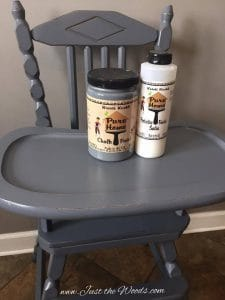 painted high chair, chalk paint, non toxic, staten island, ny, safe,