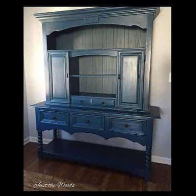 Custom Angelic Blue Painted Sideboard