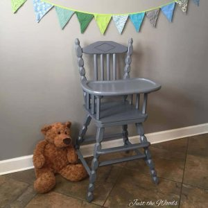 Baby Safe! Hand Painted High Chair by Just the Woods