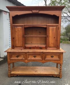 thomasville, vintage, sideboard, hutch, painted furniture, staten island