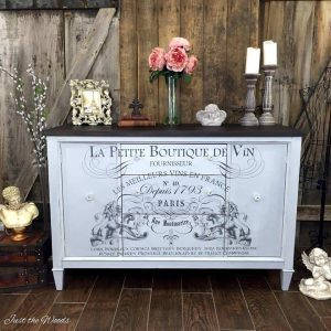 Painted Furniture with Image Transfer