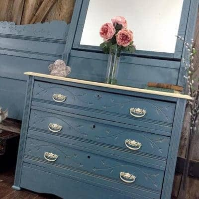 Cottage Style Painted Dresser set