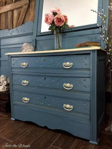 Painted antique dresser, cottage style decor, cottage style decorating, cottage style home