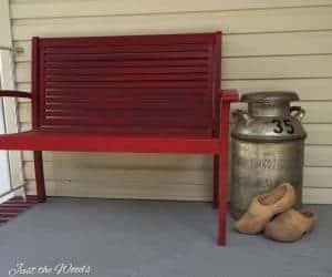 Porch Decor with Old Milk Jug