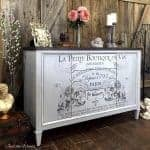 French Image Transfer on Vintage Buffet