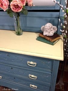 Cottage Style, Painted Furniture, memphis blue, chalk paint, shabby chic, cottage design ideas